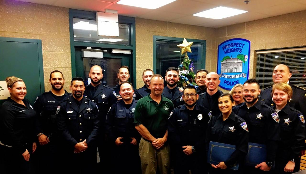 prospect heights police department officers  staff honored