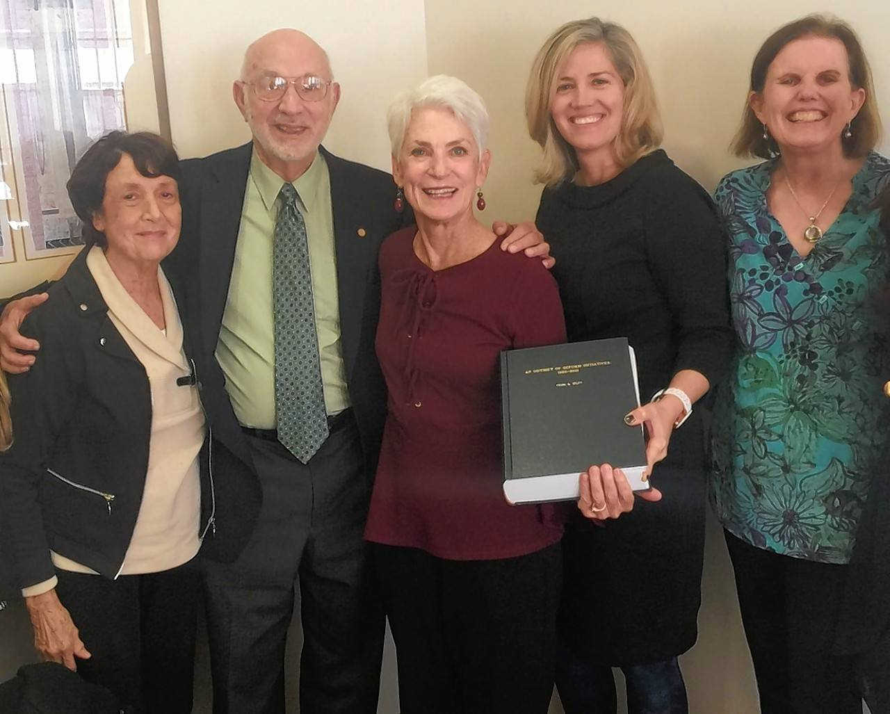 Pictured during a recent Loyola University-Chicago campus luncheon are: Judith Splitt; Frank Splitt; Patricia Shevlin, executive director of the Arthur J. Schmitt Foundation; Michelle Nickerson, professor of history, Loyola University; and Patricia Mooney-Melvin, dean of Loyola University's Graduate School.