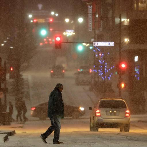 Bitter Cold Front Moves Across Plains To Midwest