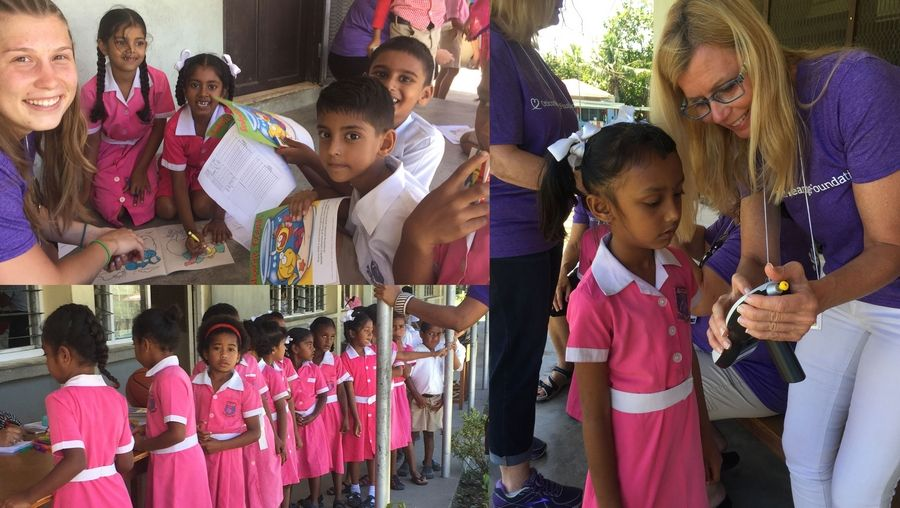 The day was filled with hearing tests and hearing aid fittings, games, and hearing