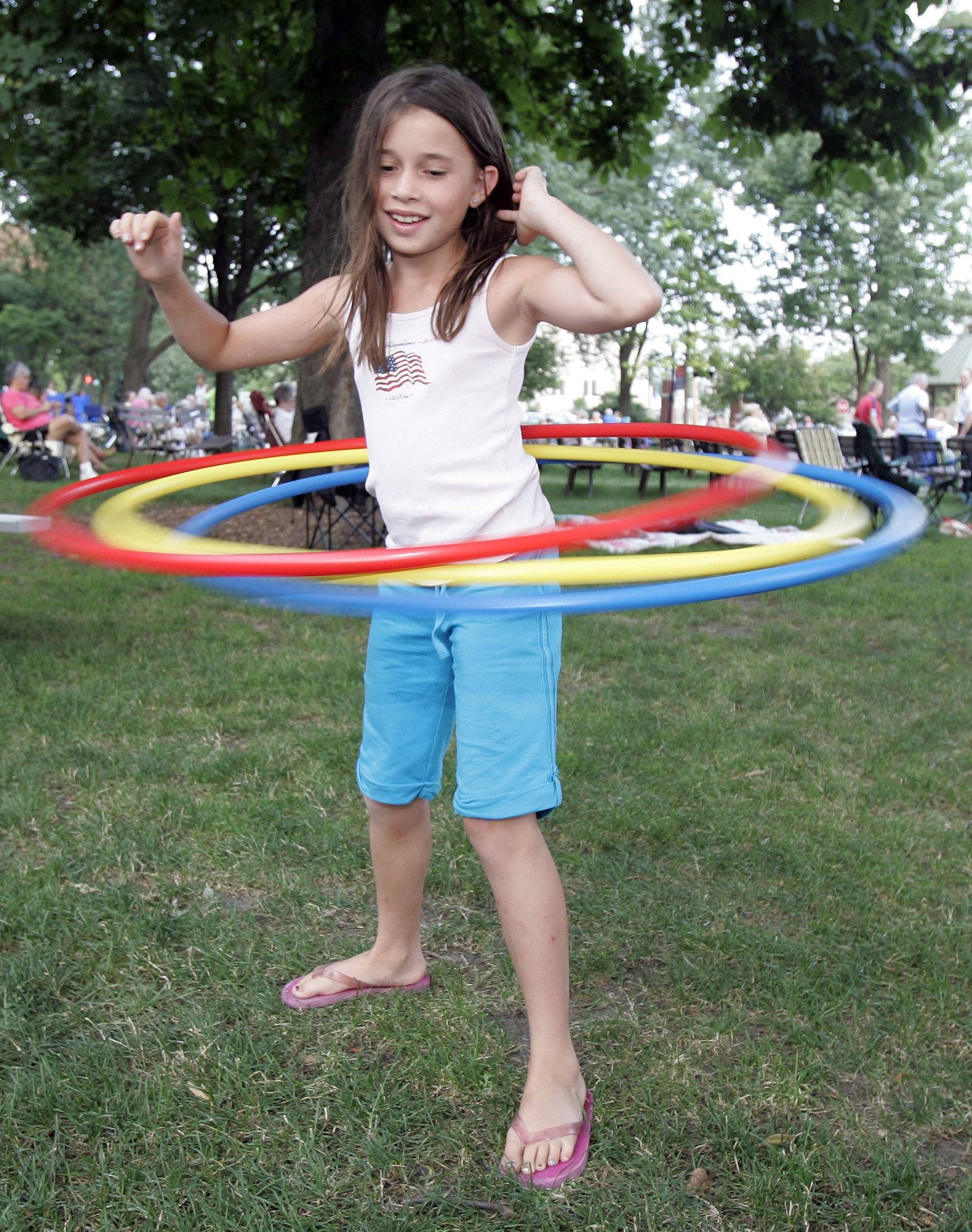 Hoola-hooping still remains popular today.