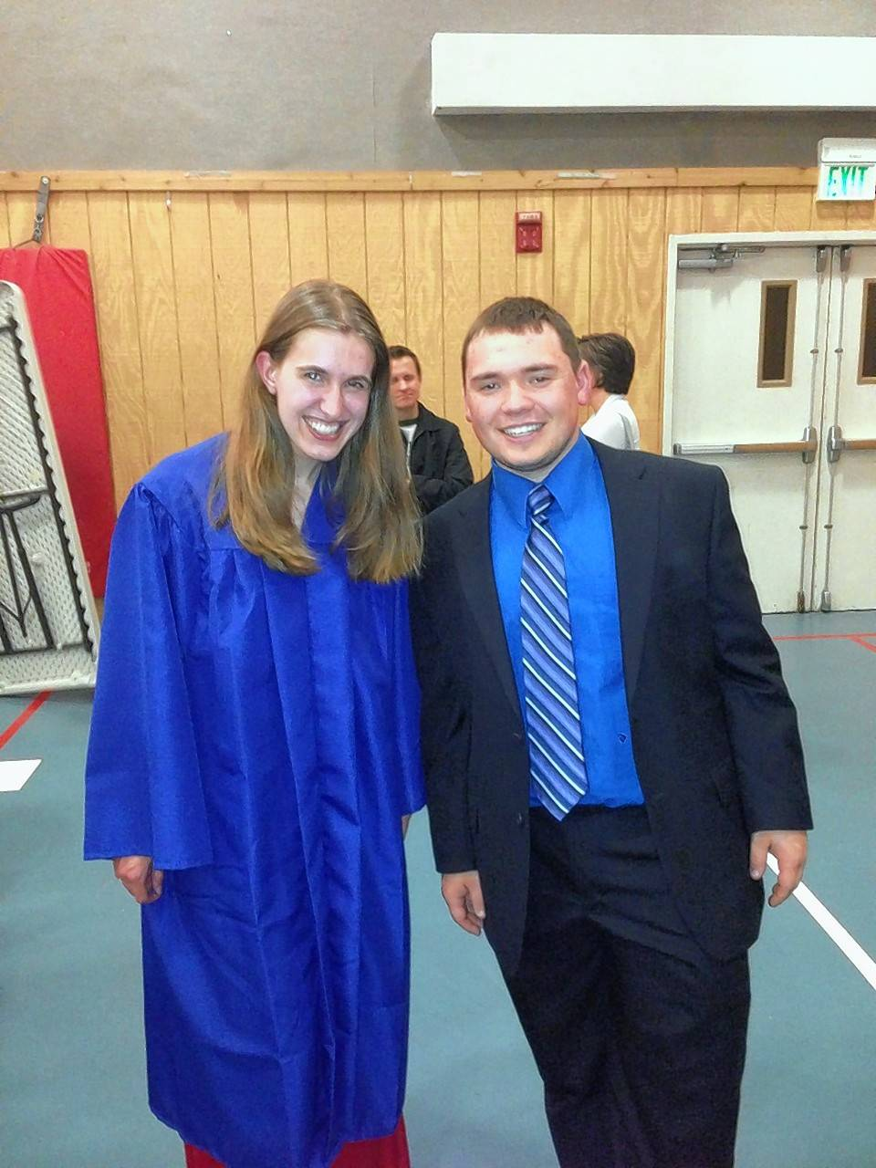 The Class of 2013 at Naperville Christian Academy featured just two students: Kaitlyn MacIntyre and Stevie Melter. They were the first two graduates at the small private school.