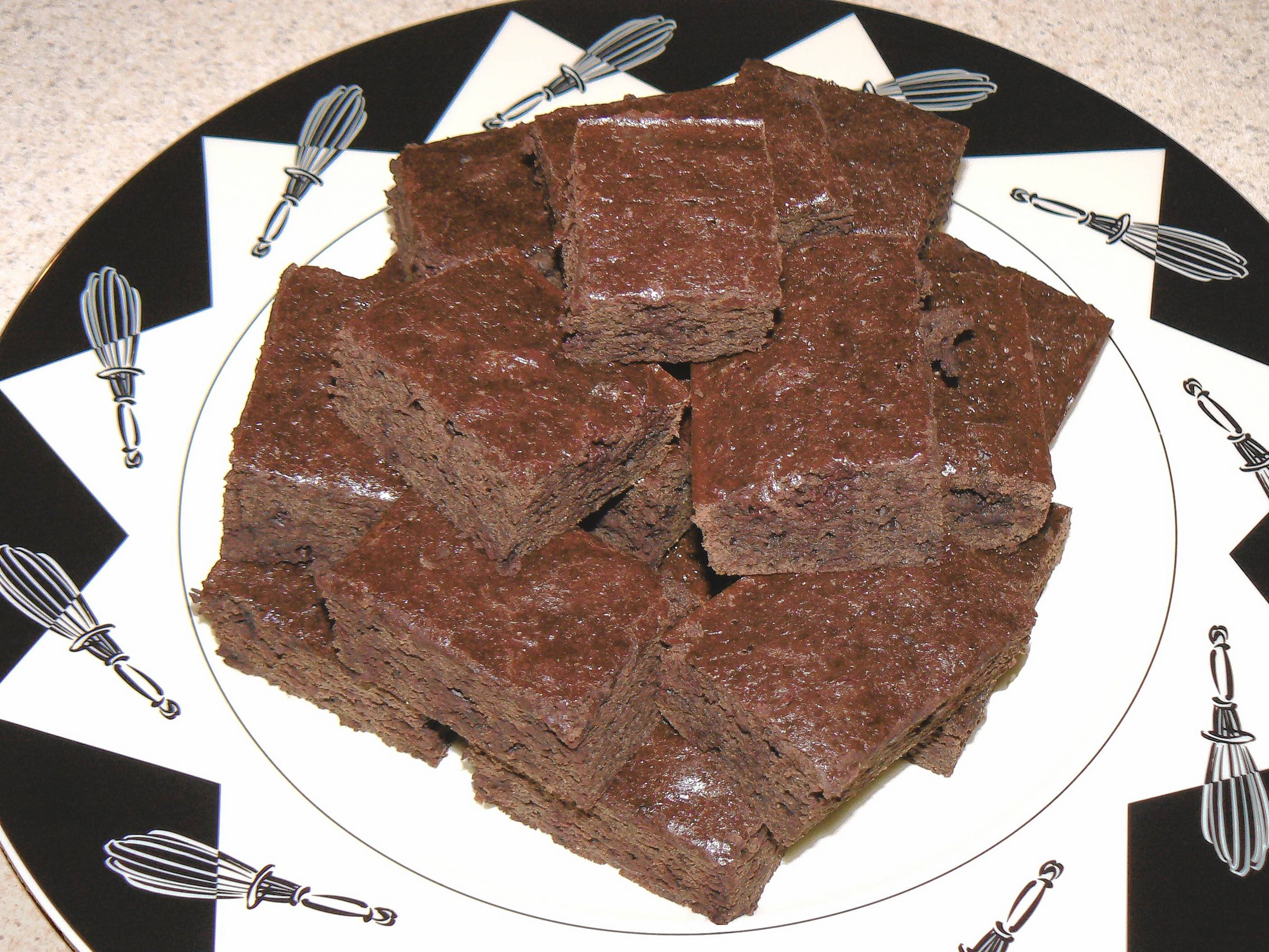 Cutting the sugar by half leave chocolate as the star in these healthy brownies.