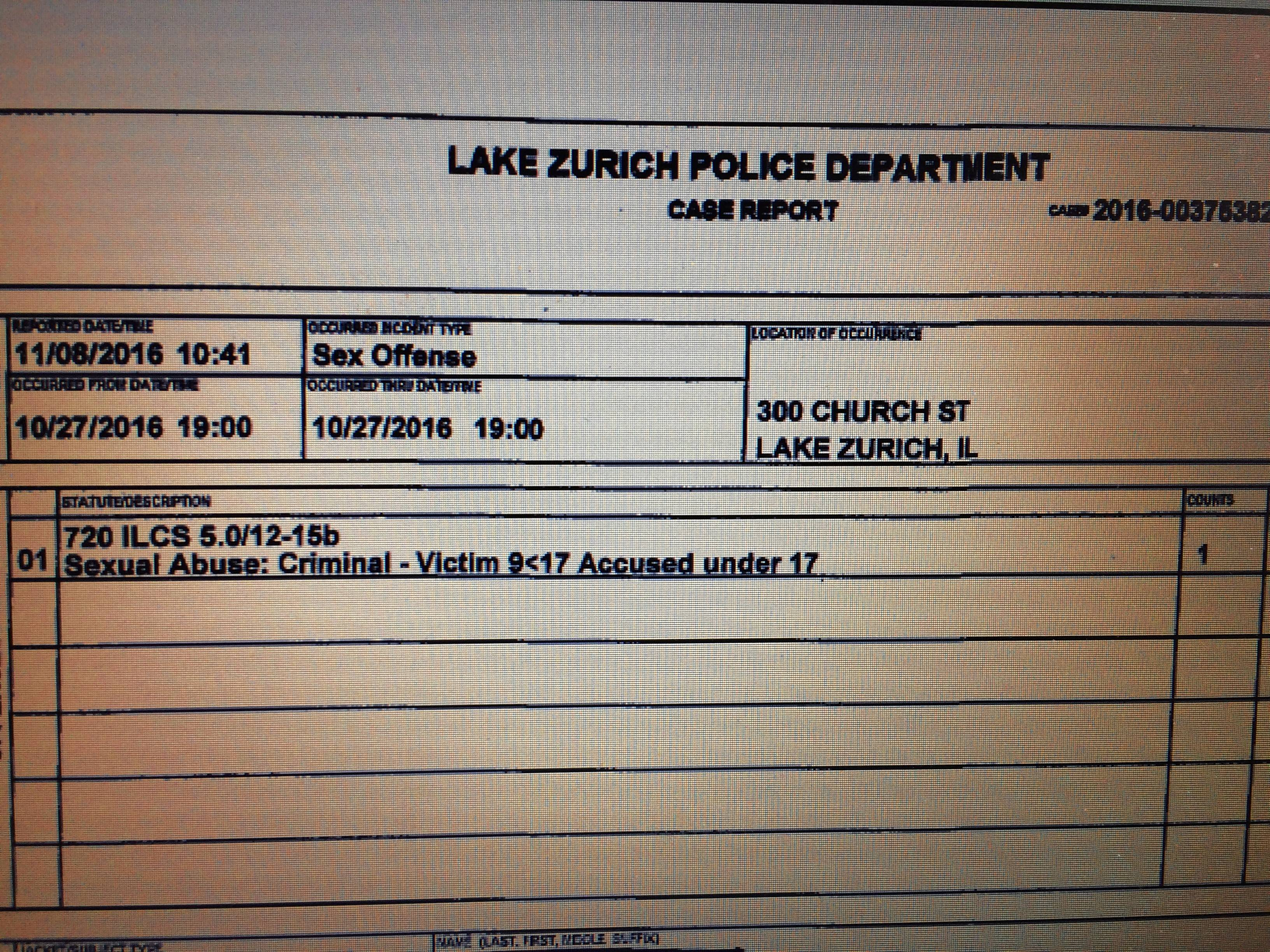 Sex abuse investigation was part of Lake Zurich hazing probe