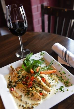 the rainbow trout makes for a tasty entree at retro bistro in crystal lake