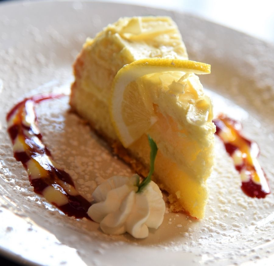 Flavors change weekly for the bistro cheesecake at Retro Bistro.