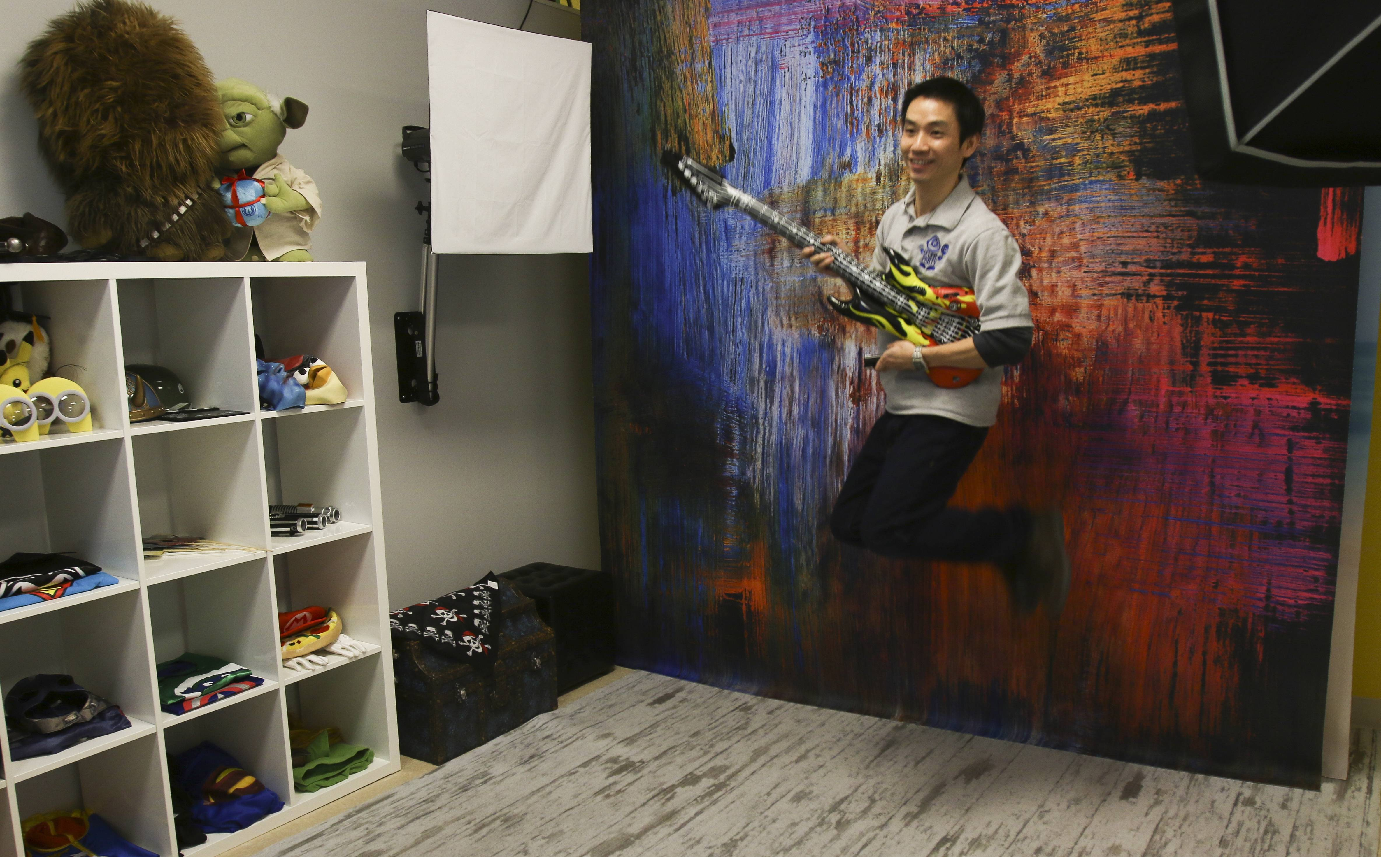 Joseph Man, owner of the new Selfie Party Fun selfie studio in Naperville, says his business brings fun to studio photography by giving control of the background, props and when to snap the photo to the customer.