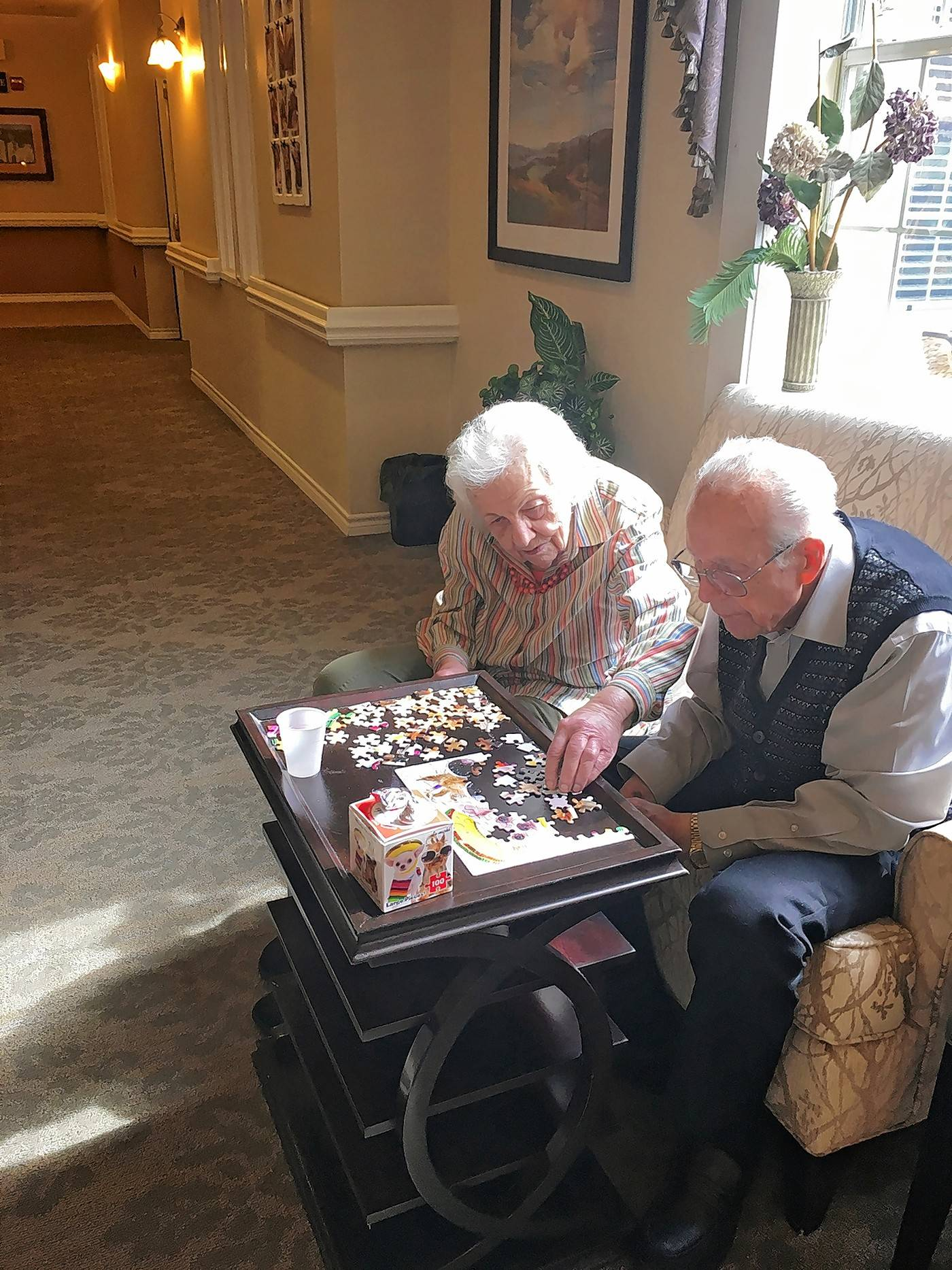 Residents typically spend very little time in their rooms at Autumn Leaves Memory Care.