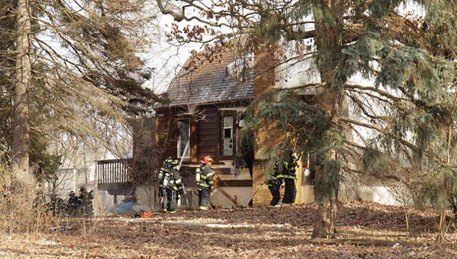 A fire gutted a house Friday on the 25800 block of West Highpoint Road in Ingleside. One pet dog was killed.