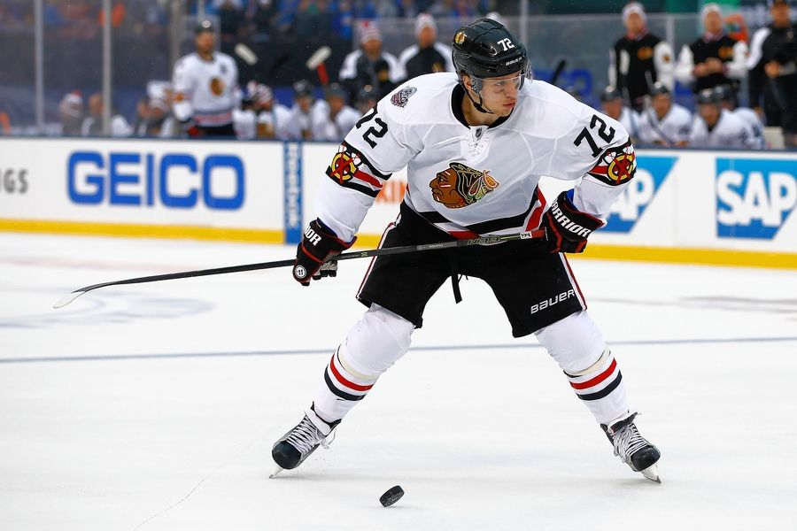 Chicago Blackhawks winger Artemi Panarin has a blistering slap shot to go with his incredible speed.