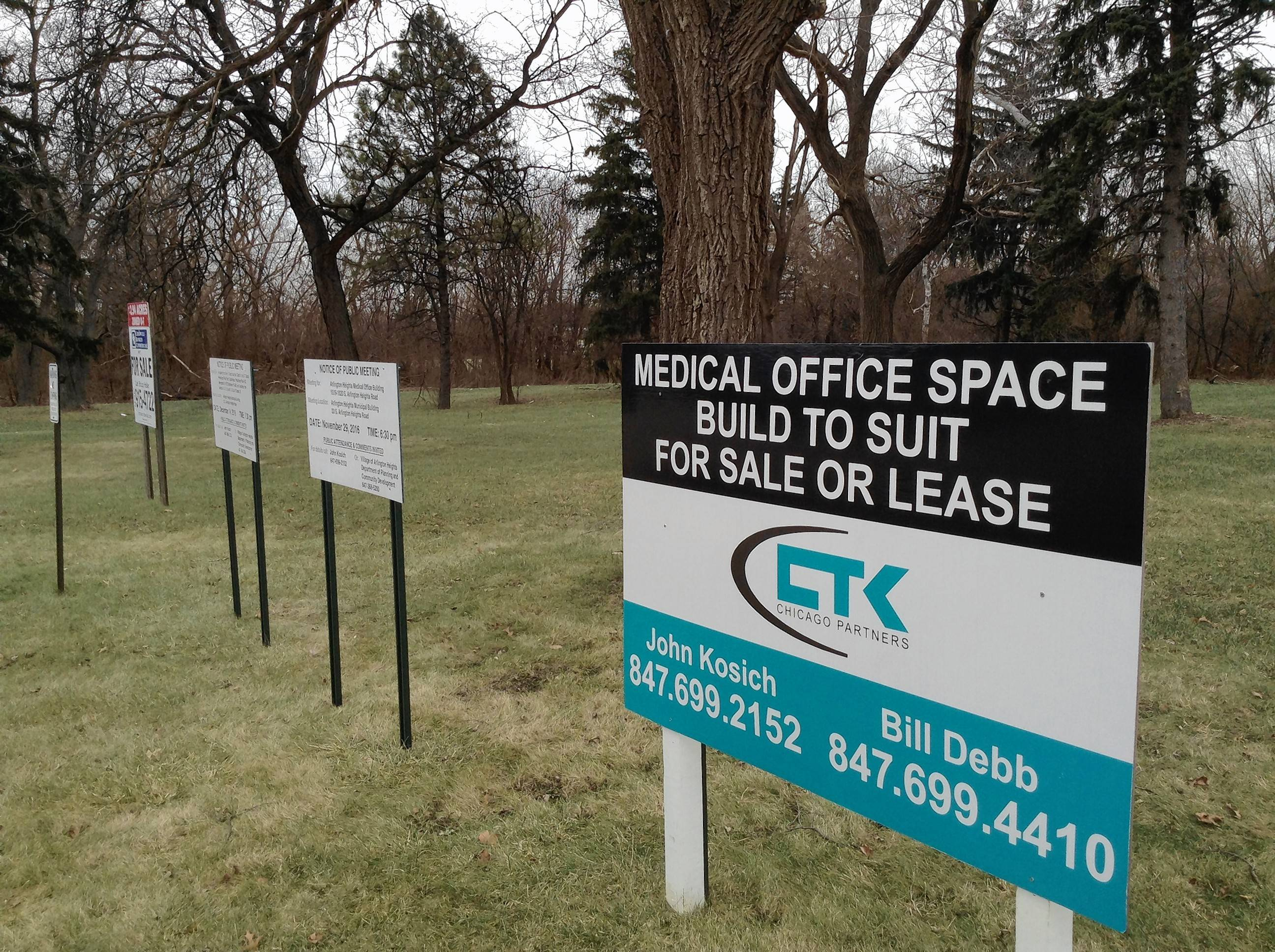 A medical office building is proposed for this vacant 3.86-acre site on Arlington Heights Road north of Golf Road. Arlington Heights leaders could decide on the plan as early as Jan. 17.