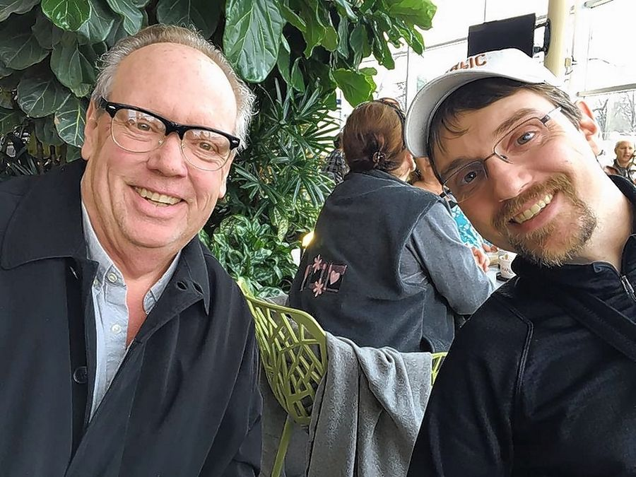 Longtime Chicago radio director Barry Keefe, left, inspired his son, Alex, to pursue a career in radio. Barry Keefe died a year ago after battling pancreatic cancer. Alex is headed back to WBEZ this month after two years in Vermont.