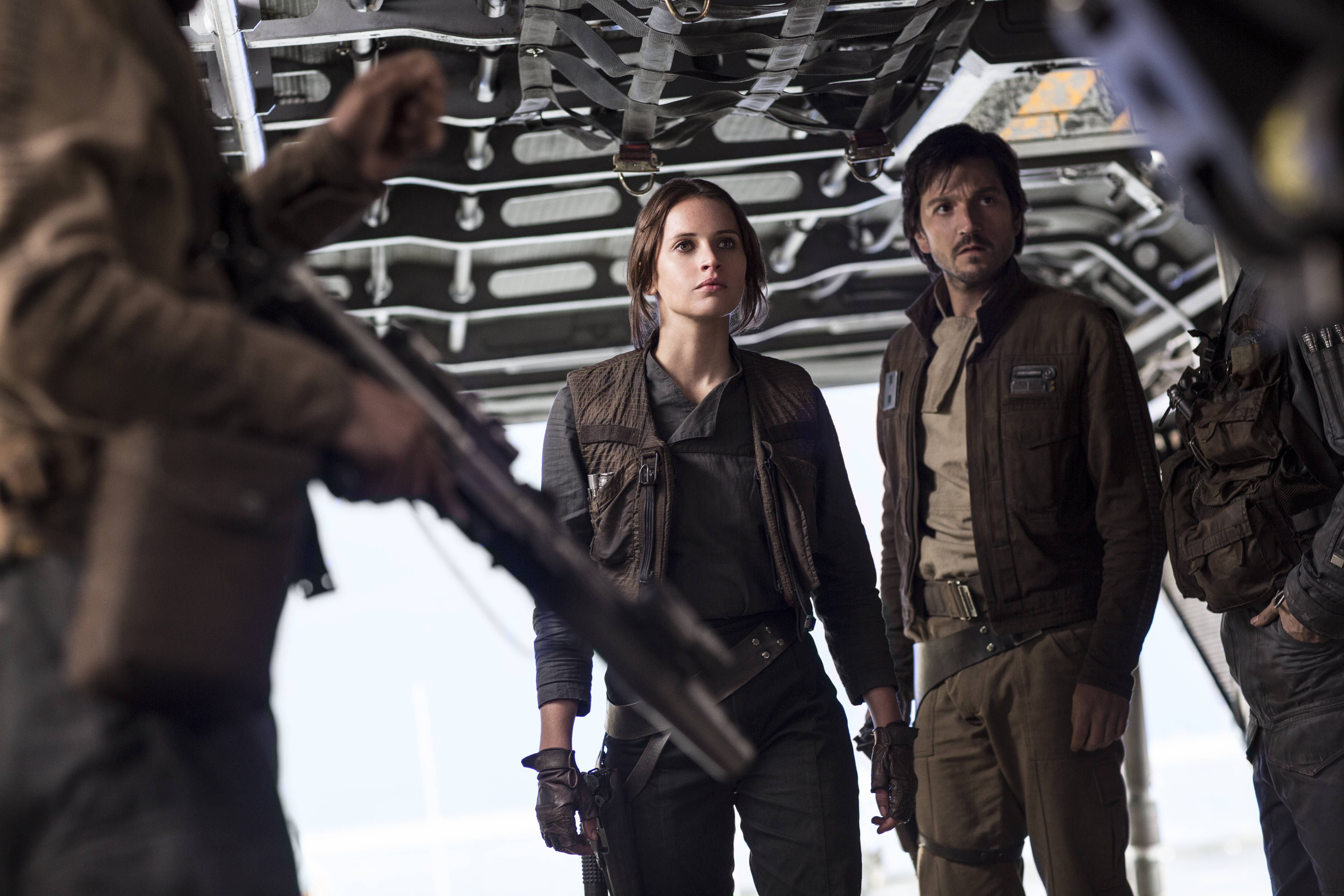 "Felicity Jones and Diego Luna star in ""Rogue One: A Star Wars Story,"" which is poised to become the most lucrative movie released in 2016."