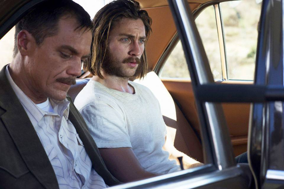 "Aaron Taylor-Johnson, right, with Michael Shannon, won a Golden Globe for best supporting actor for his role in ""Nocturnal Animals."""