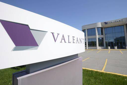 FILE - This May 27, 2013, file photo, shows the head office and logo of Valeant Pharmaceuticals in Laval, Quebec, Canada. Valeant is selling its CeraVe, AcneFree and AMBI skincare brands to L'Oréal for $1.3 billion. Shares of the pharmaceutical company soared more than 13 percent in Tuesday, Jan. 10, 2017, premarket trading.(Ryan Remiorz/The Canadian Press via AP, File)