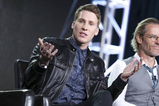 "Dustin Lance Black speaks at the ""When We Rise"" panel at the Disney/ABC portion of the 2017 Winter Television Critics Association press tour on Tuesday, Jan. 10, 2017, in Pasadena, Calif. (Photo by Rich Fury/Invision/AP)"