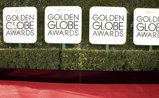 Signage appears along the red carpet at the 74th annual Golden Globe Awards at the Beverly Hilton Hotel on Sunday, Jan. 8, 2017, in Beverly Hills, Calif. (Photo by Jordan Strauss/Invision/AP)