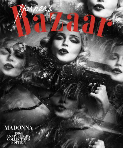 This image provided by Harper's Bazaar shows the cover of the February issue featuring Madonna. Madonna is one of 150 women chosen by editors of the Hearst magazine's 32 editions worldwide as the most fashionable women around the globe. The magazine's first-ever such list comes in celebration of its 150th anniversary, Editor-in-Chief Glenda Bailey said Monday, Jan. 9, 2017. (Harper's Bazaar via AP)