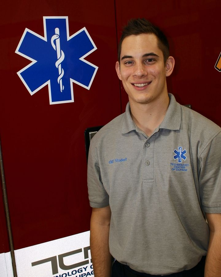 Matthew Watson, a Naperville Central senior, was able to pursue his interest in emergency management through TCD's Fire Science/Emergency Medical Technician program. He'll continue his education at the University of Akron.