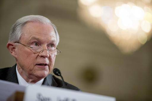 Attorney General-designate, Sen. Jeff Sessions, R-Ala. testifies on Capitol Hill in Washington, Tuesday, Jan. 10, 2017, at his confirmation hearing before the Senate Judiciary Committee. (AP Photo/Andrew Harnik)