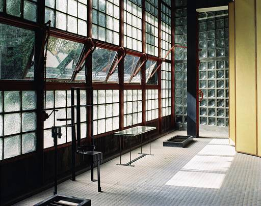 "This undated photo provided by the Jewish Museum shows Pierre Chareau's (French, 1883-1950) and Bernard Bijvoet's (Dutch, 1889-1979), glass house Maison de Verre. The photo is part of the exhibition ""Pierre Chareau: Modern Architecture and Design,"" at The Jewish Museum in New York. (Mark Lyon/The Jewish Museum via AP)"