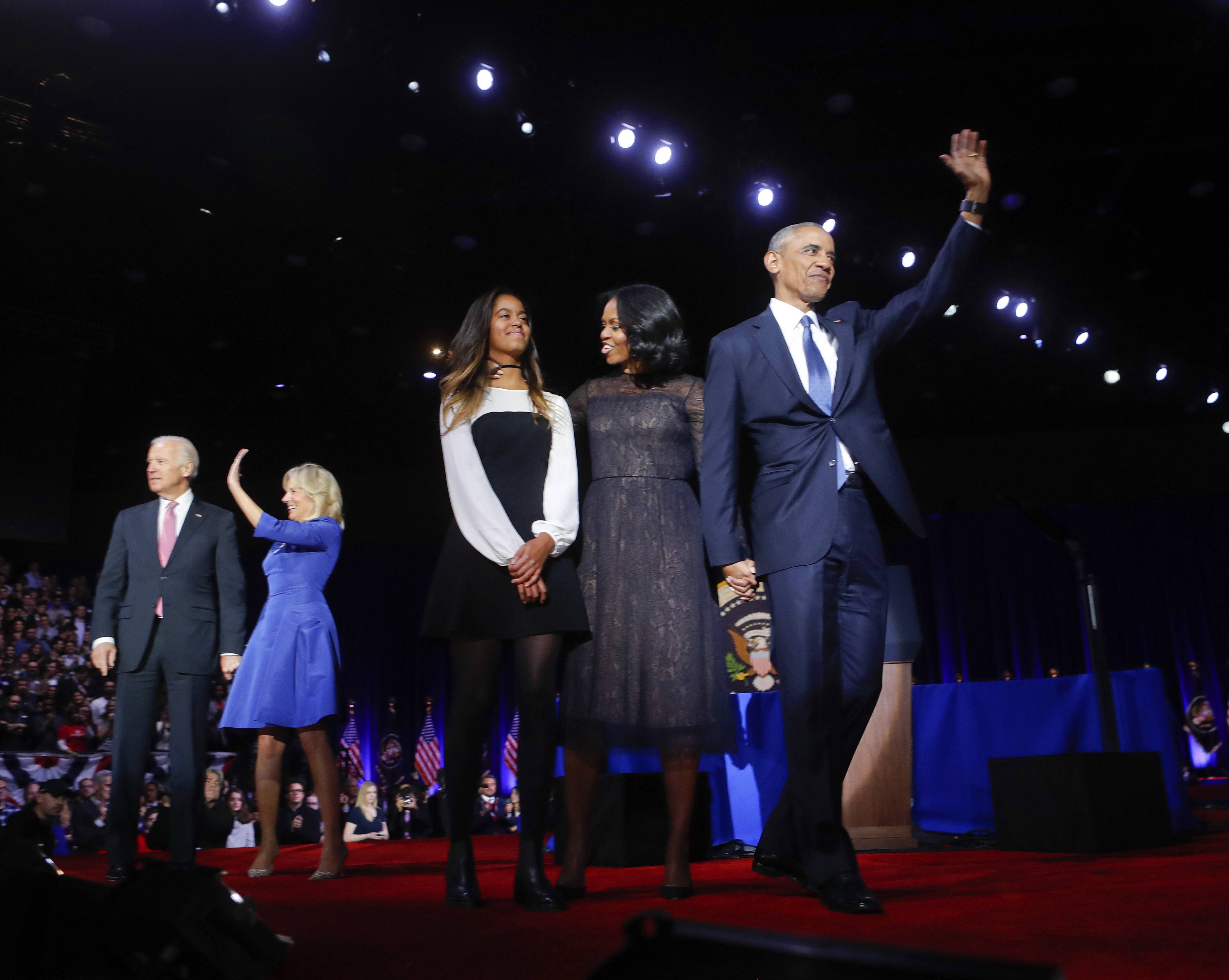 Images: President Barack Obama gave his farewell address in Chicago Tuesday