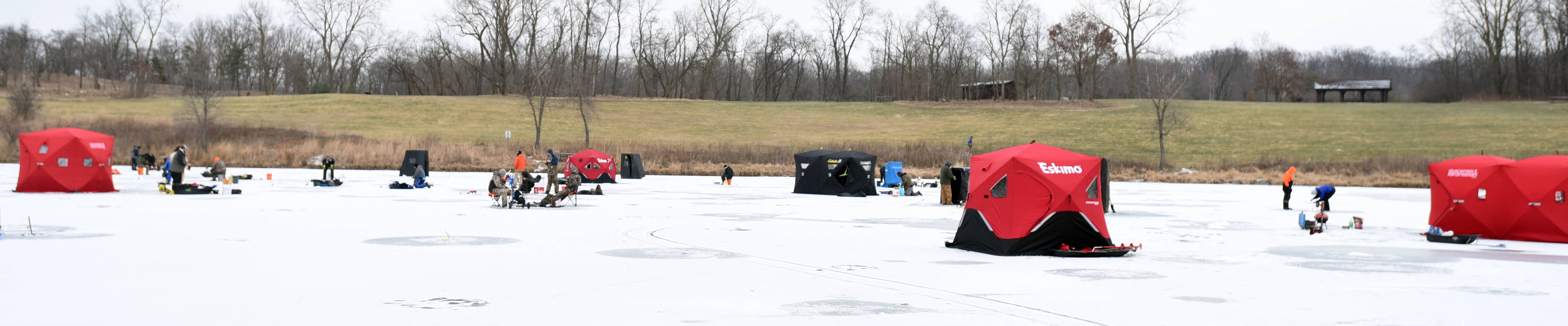 Paul Michna/pmichna@dailyherald.comThe DuPage County Forest Preserve District will sponsor its Hard Water Classic ice fishing tournament from noon to 3:30 p.m. Saturday, Jan. 14, on the 62-acre Silver Lake at Blackwell Forest Preserve in Warrenville