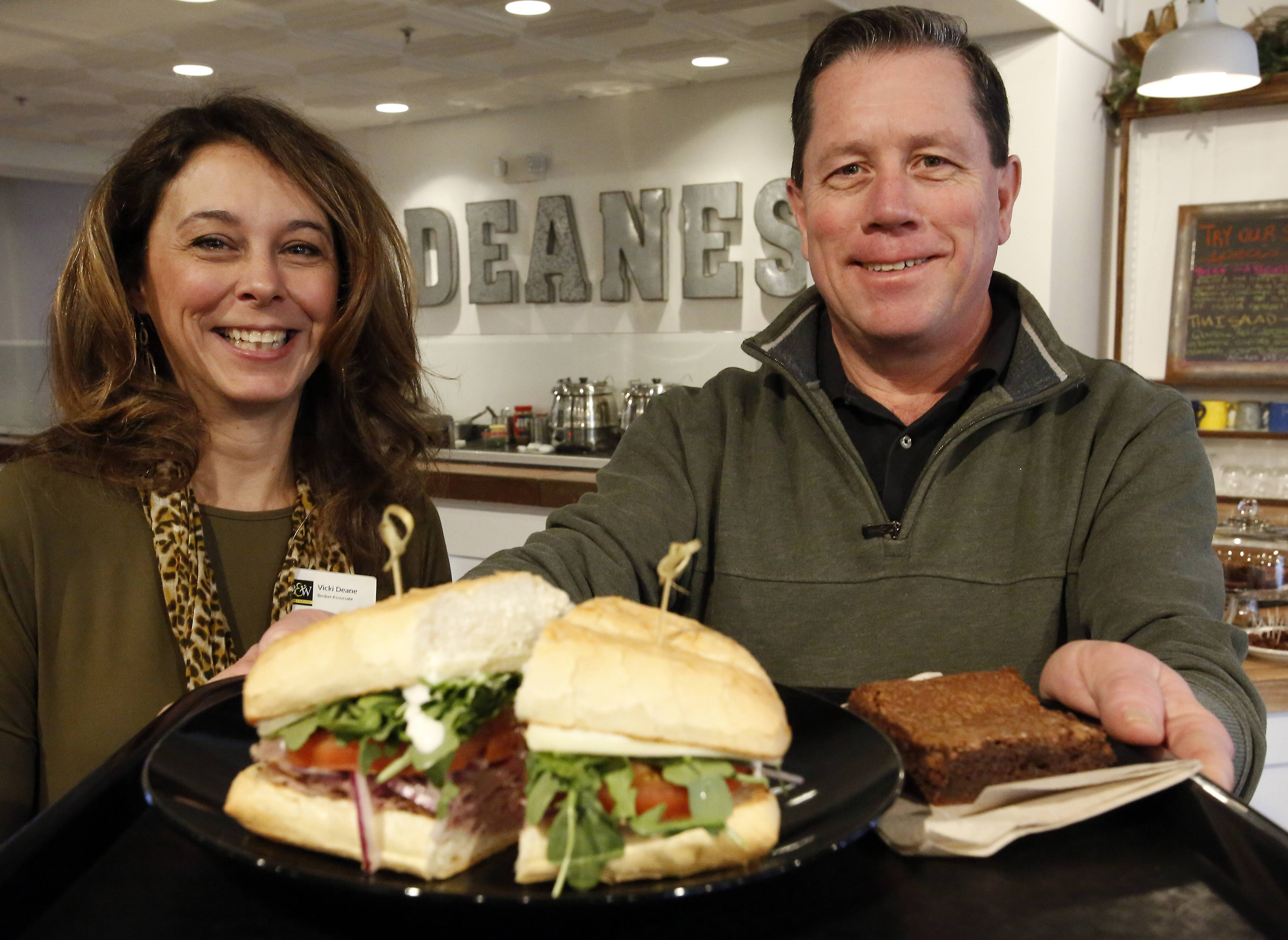 Vicki, left, and Chris Deane of Deane's Market and Deli in Geneva offer a roast beef sandwich that is one of columnist Dave Heun's favorites.
