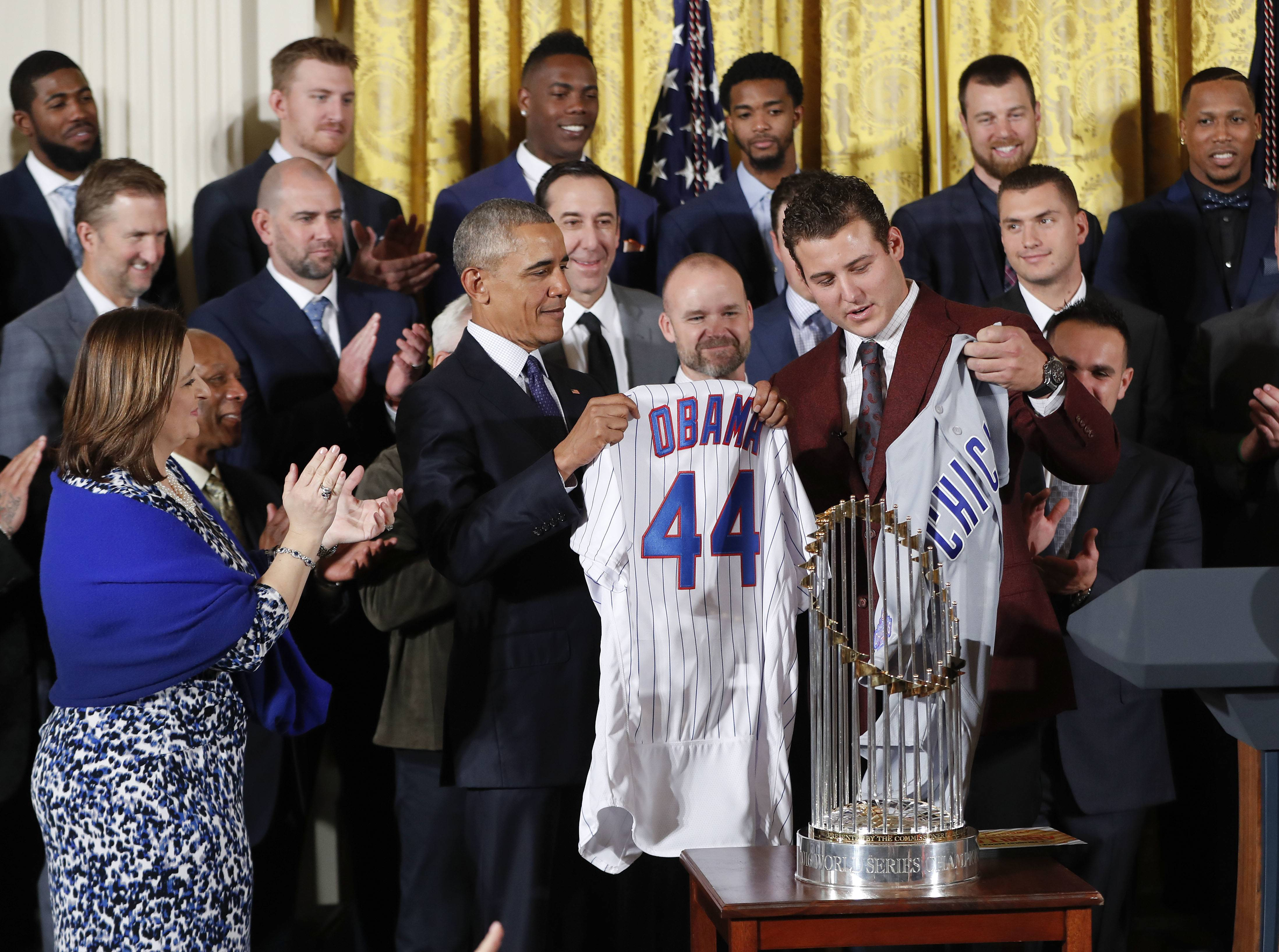 Images: World Series Champion Chicago Cubs visit White House