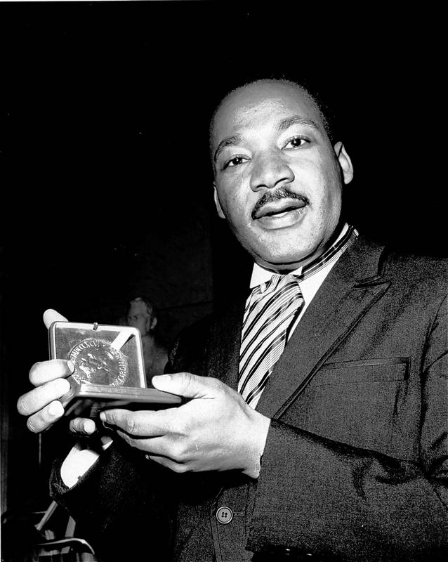 Example Essay Papers Martin Luther King Jr Displays His  Nobel Peace Prize Medal In Political Science Essay also Locavores Synthesis Essay Images Martin Luther King Jr Custom Essay Paper