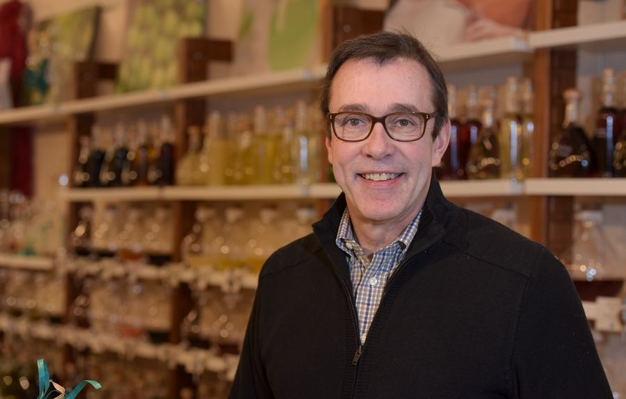 Several new businesses recently have opened in downtown Naperville, including Michael Aldrich's VOM FASS at 121 S. Washington St. It's a German specialty ingredient shop.
