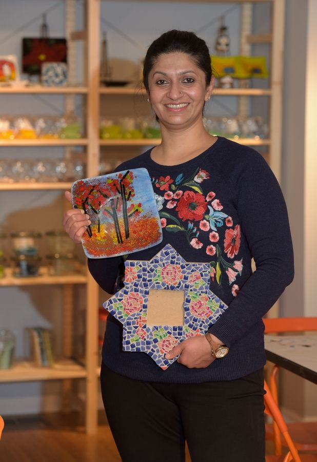 Artist Mansi Hans has opened a new art studio, A Colorful Affair, at 120 S. Webster St. in downtown Naperville.