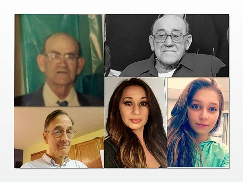 Five generations share one birthday today