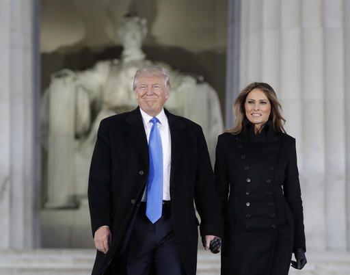 5035e713 President-elect Donald Trump and his wife Melania Trump arrive at a  pre-Inaugural