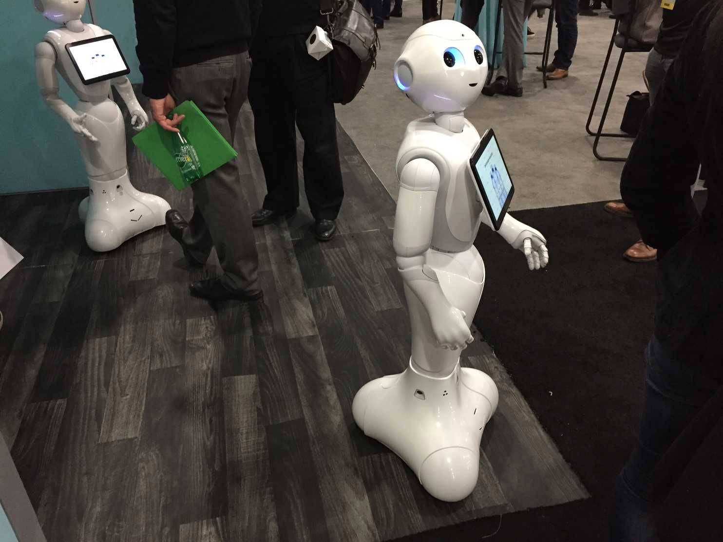Pepper, a humanoid robot made by Softbank Robotics. The company has a vision of a world in which many retailers incorporate this technology into brick-and-mortar stores, in which it feels normal and reflexive for you to approach a robot with customer service questions.