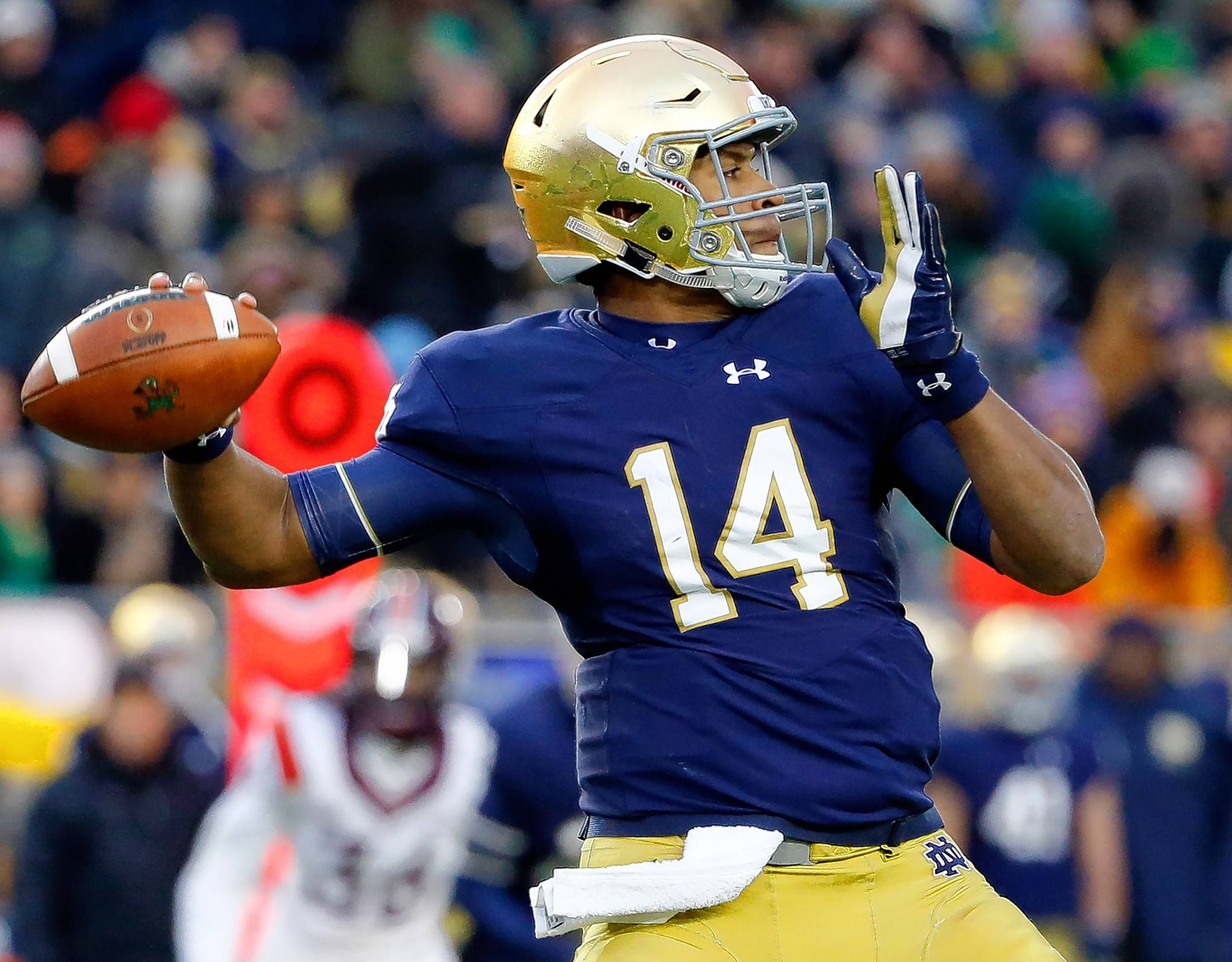 ESPN draft analyst Mel Kiper said the Chicago Bears have a chance to score a QB like Notre Dame's DeShone Kizer in the second round, while getting a top defensive guy in the first round.