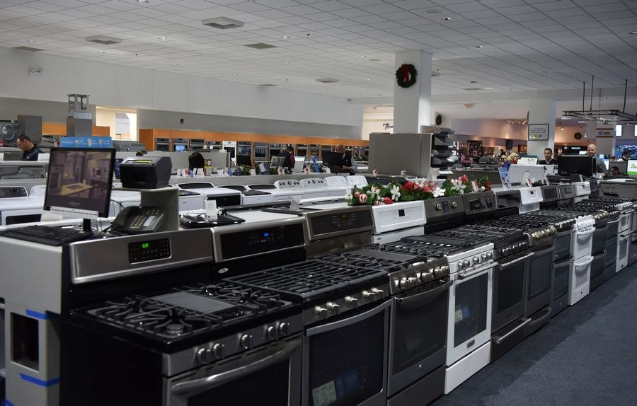Stoves are among the appliances displayed at Abt in Glenview.
