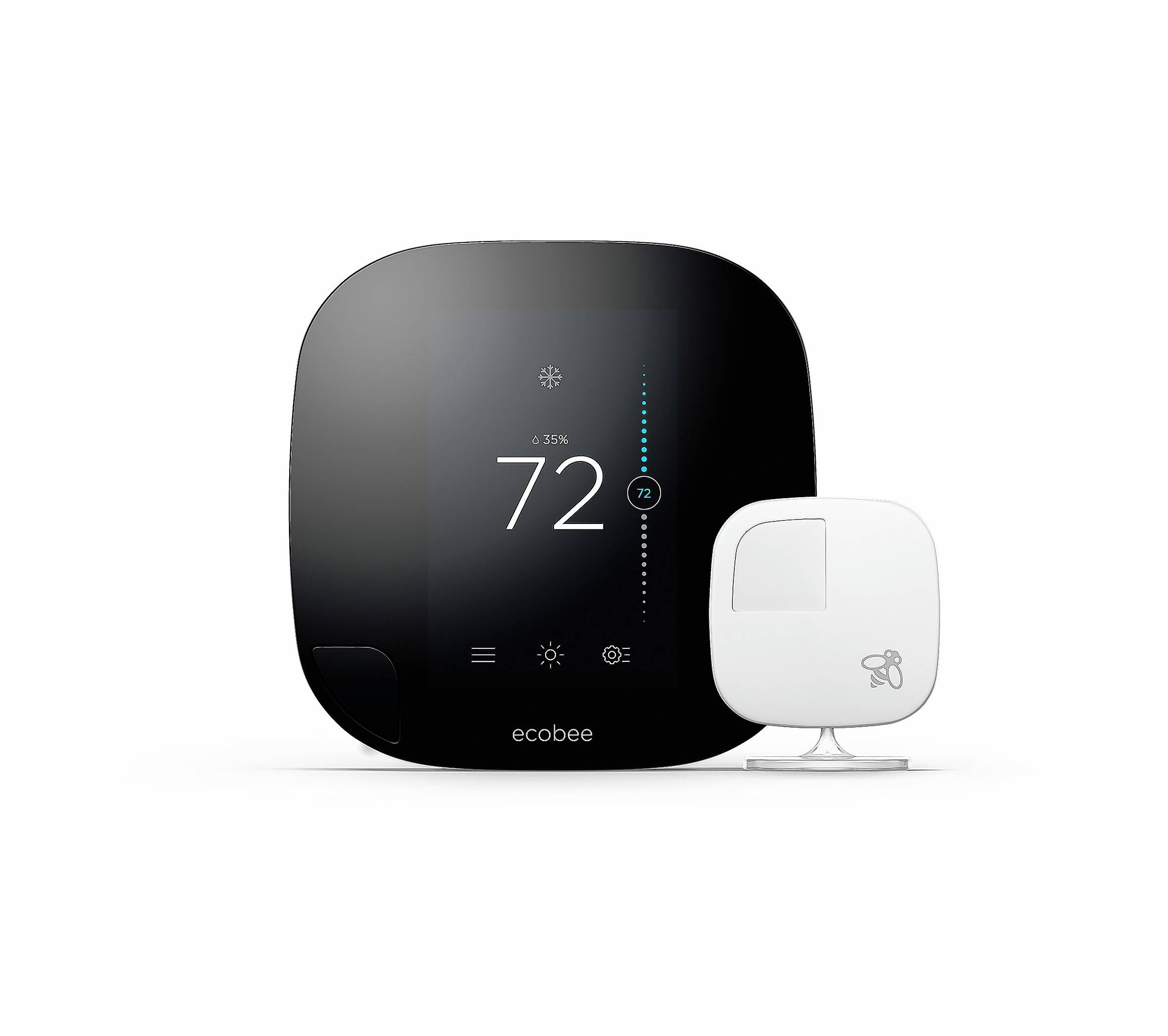 The Ecobee thermostat integrates with Amazon's Alexa home assistant and Apple's Siri.