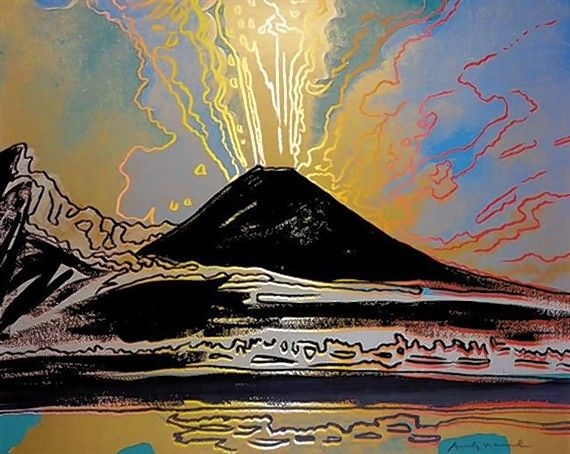 """Vesuvius"" by Andy Warhol was a recent gift to the College of DuPage."