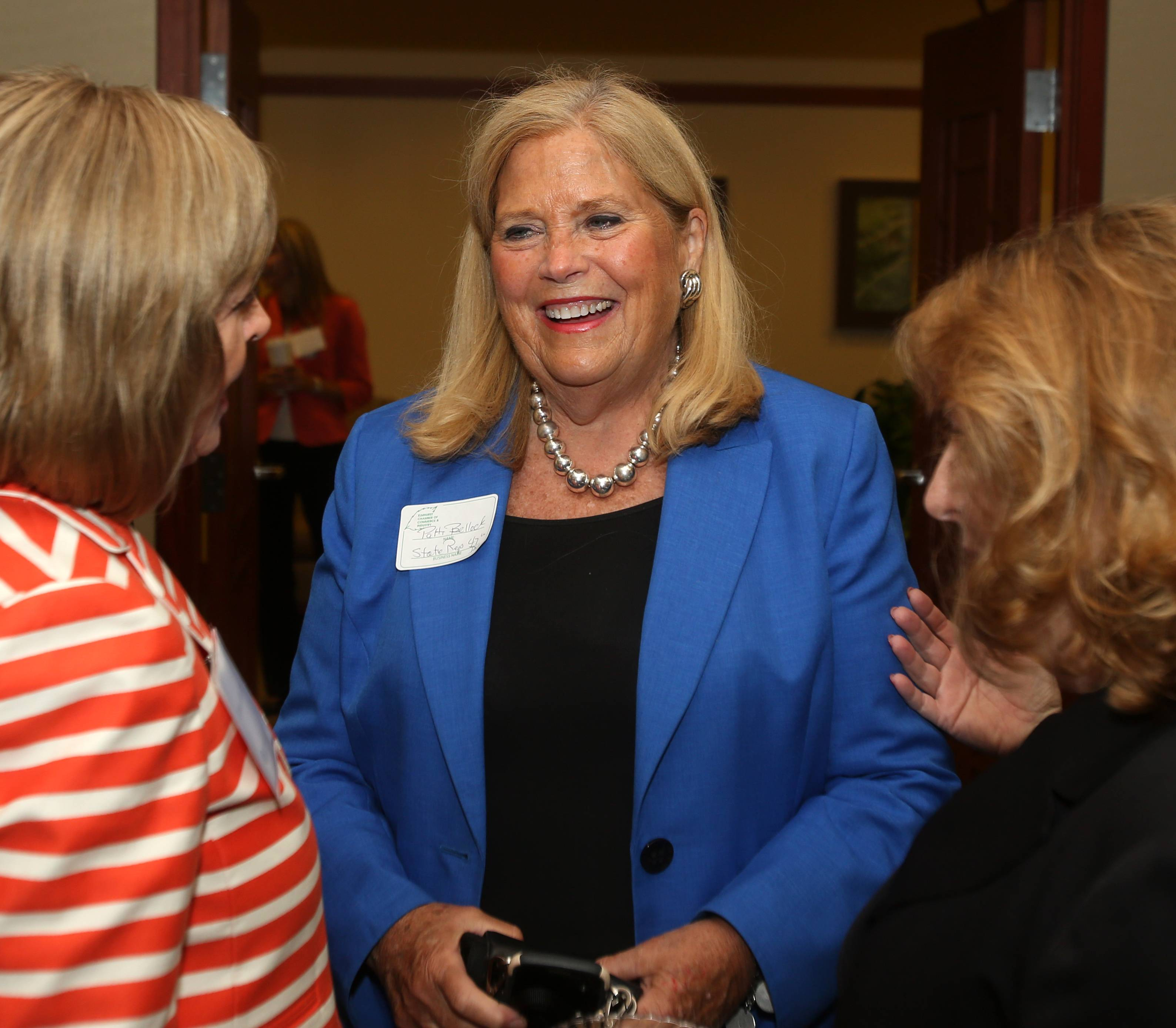 State Rep. Patti Bellock of Hinsdale, attending an Elmhurst Chamber of Commerce event, is the new deputy leader of the Illinois House GOP.