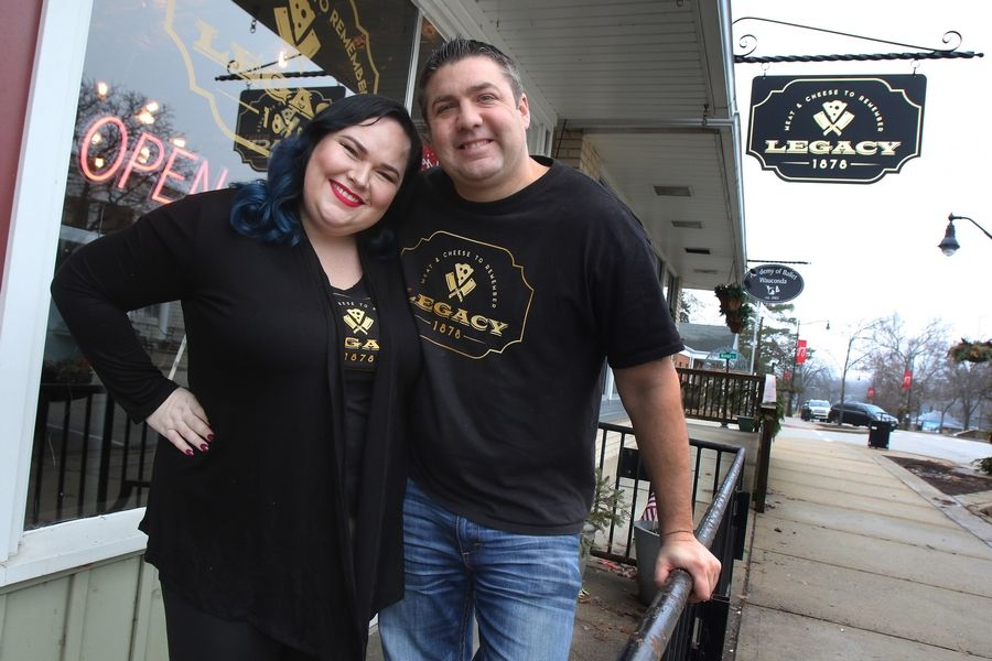 Longtime friends Carl Waggoner and Megan McCracken have opened a meat and cheese shop called Legacy 1878 in downtown Wauconda. They have corporate professional backgrounds but share a passion for good food.