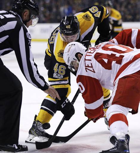 Pastrnak Scores Late In OT, Bruins Beat Red Wings 4-3