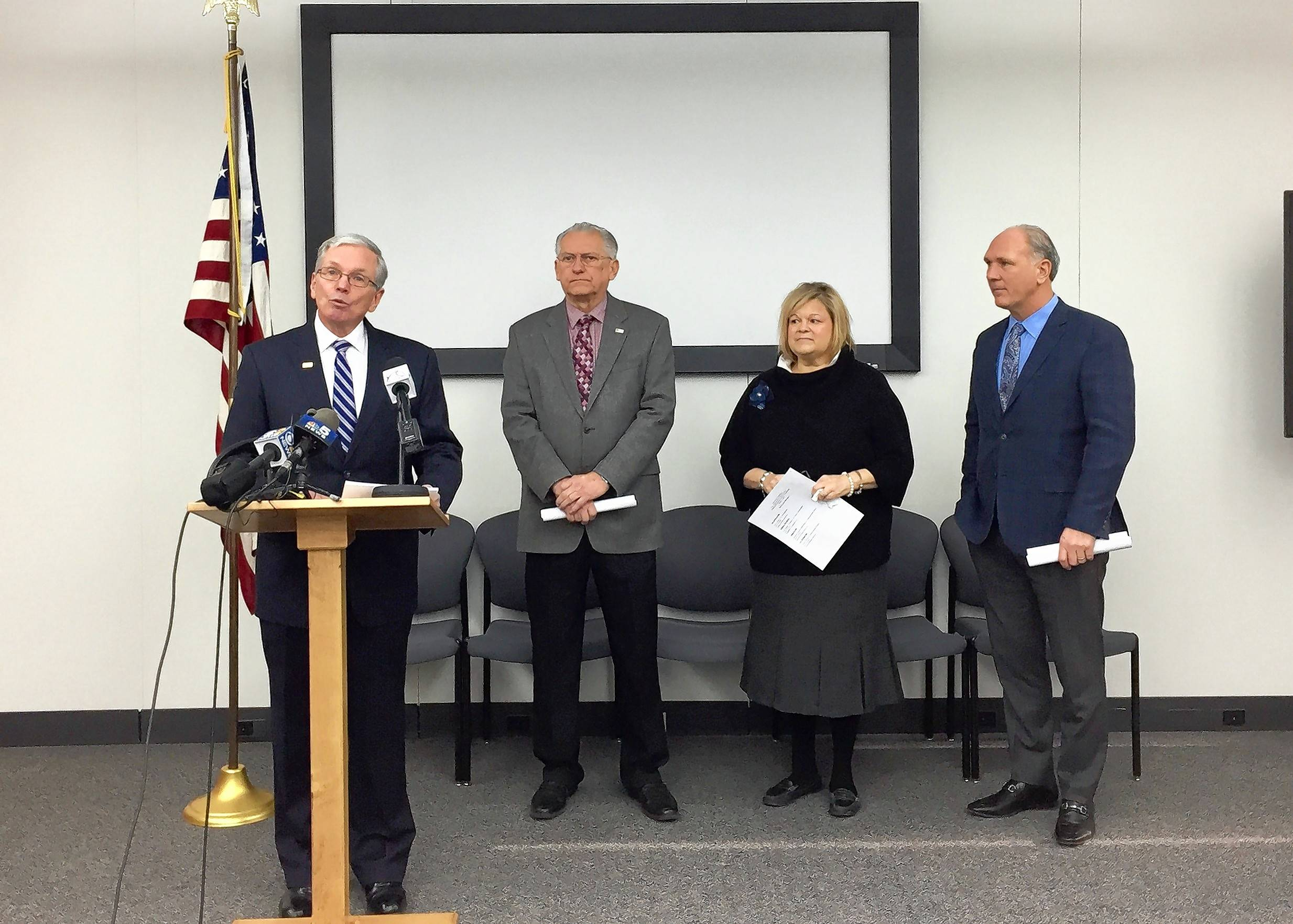 Mayors of Warrenville, Lisle, Woodridge and Naperville all say they oppose a potential ballot question that could ask if voters want to annex the three smaller communities into Naperville. A judge is expected to decide Thursday whether the question will appear on the April 4 ballot.