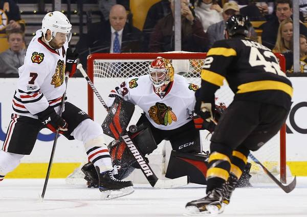 e39cd6b47 Goalie Darling earns another start for Chicago Blackhawks