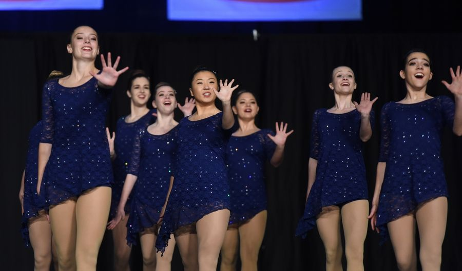 Naperville North High School performs during the preliminary round the state dance competition Friday at U.S. Cellular Coliseum in Bloomington. Naperville North advanced to Saturday's finals.