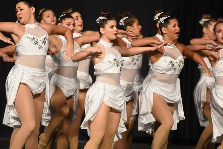 Stevenson High School performs Saturday during the Competitive Dance finals at U.S. Cellular Coliseum in Bloomington.