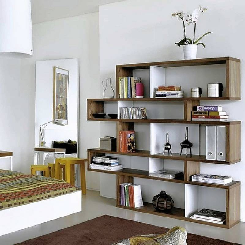 Stylish shelves offer infinite ways to organization - Etagere suspendue cable plafond ...