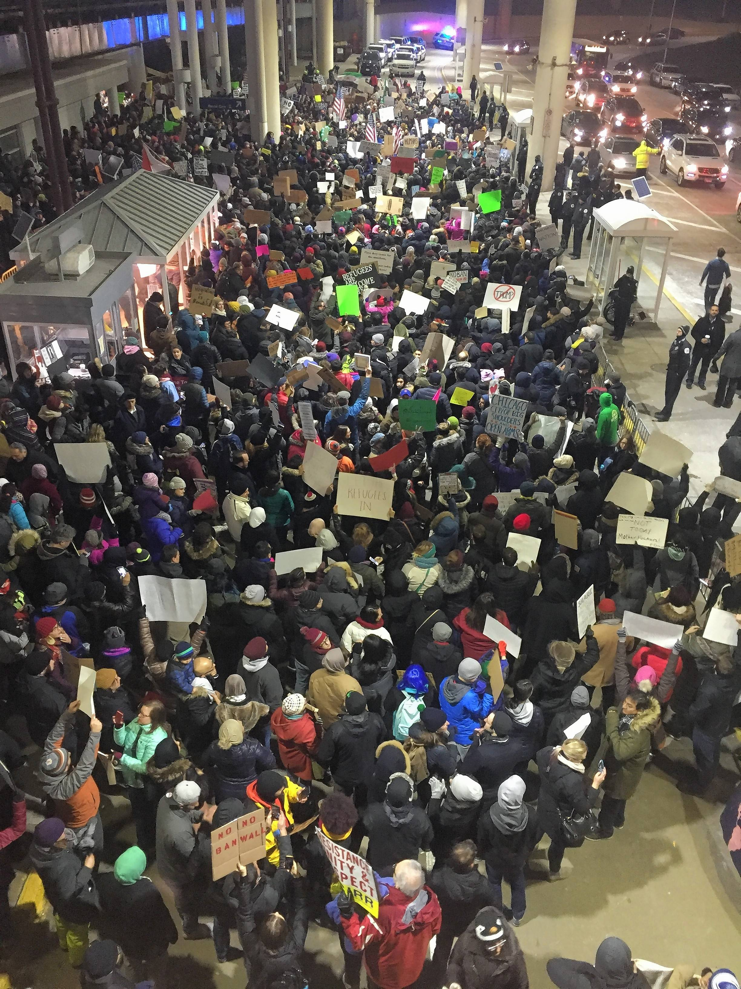 Local, national businesses give views on immigration ban