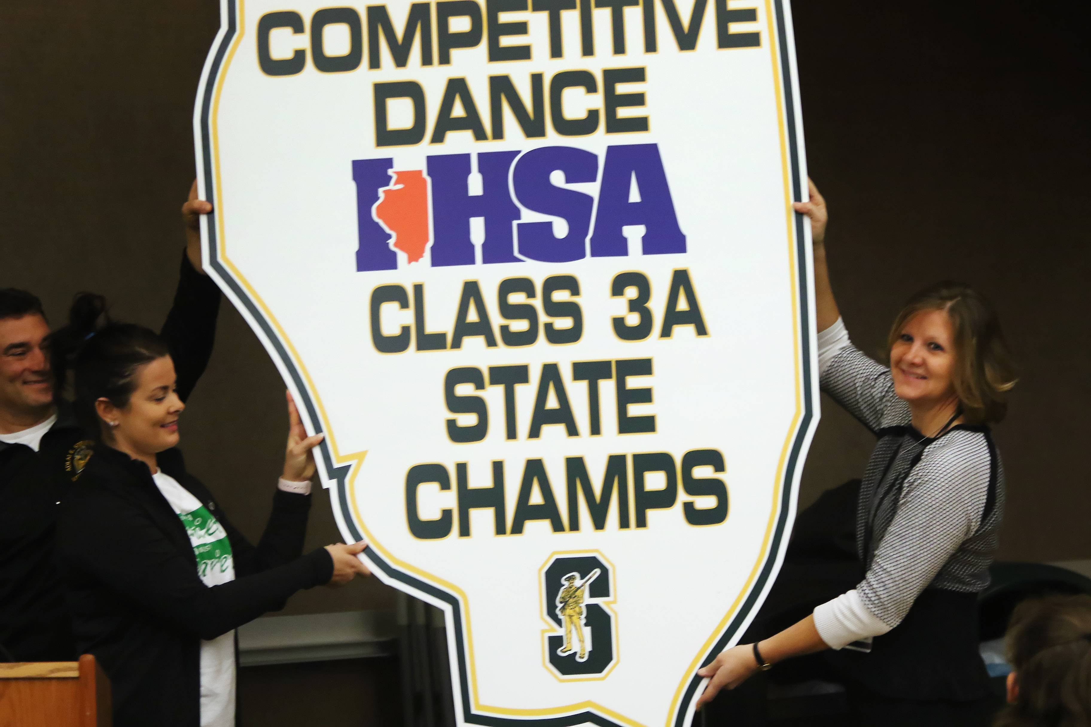 Stevenson celebrates dance team's state title