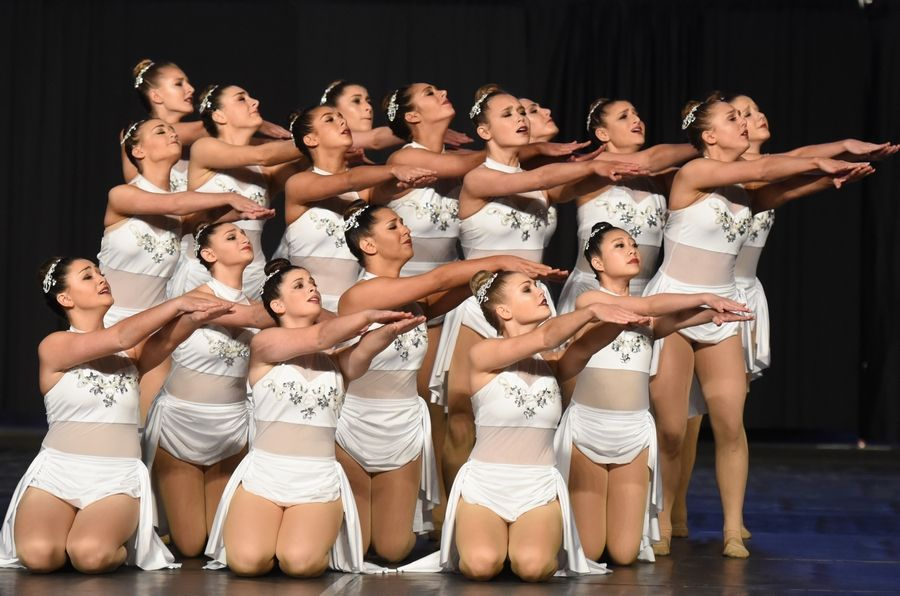 Stevenson High School performs Saturday during the Competitive Dance finals at U.S. Cellular Coliseum in Bloomington. The team won the Class 3A state title.
